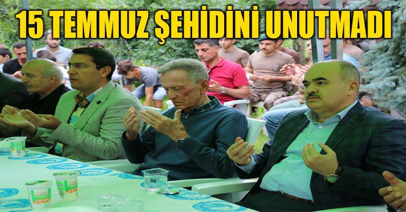 Vali Dr Zülkif Dağlı şehit Ufuk Baysan'ın mevlit programına katıldı