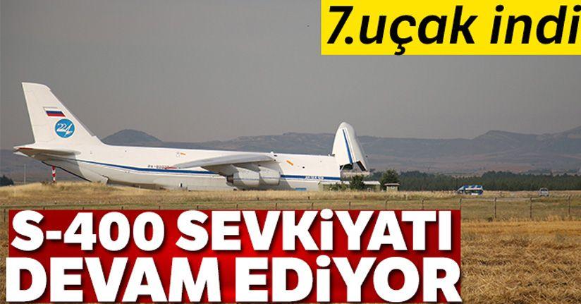 S-400 teslimatında yedinci uçak Mürted'e indi