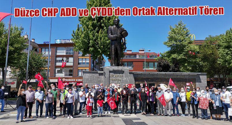 Düzce CHP ADD ve ÇYDD'den Ortak Alternatif Tören