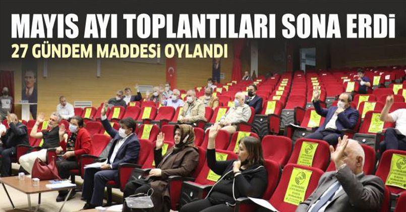 Mecliste Mayıs Ayı Toplantıları Sona Erdi