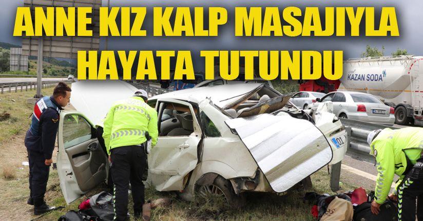 Kontrolden çıkan otomobil refüje uçtu: 5 yaralı