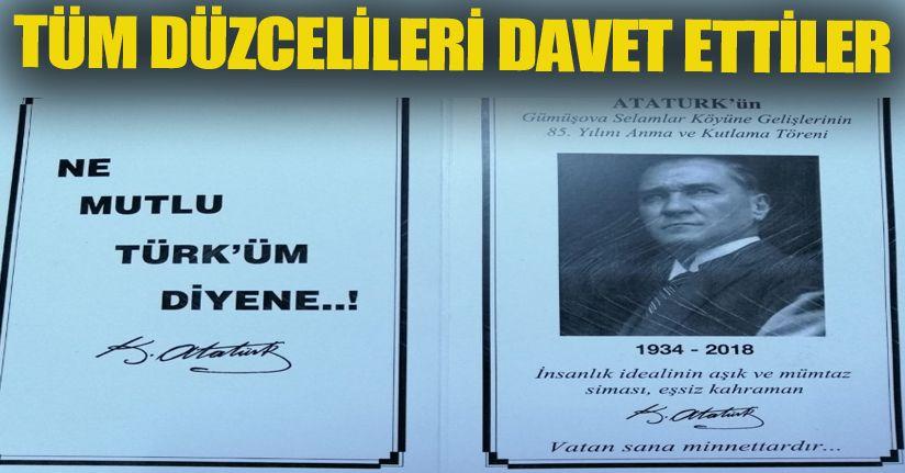 Atatürk'ün Düzce'ye ve Selamlar Köyüne Gelişi Kutlanacak