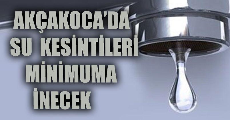 Akçakoca'da Su Kesintileri Minimuma İnecek