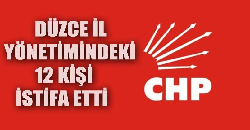 Düzce CHP İl Yönetimi İstifa Etti