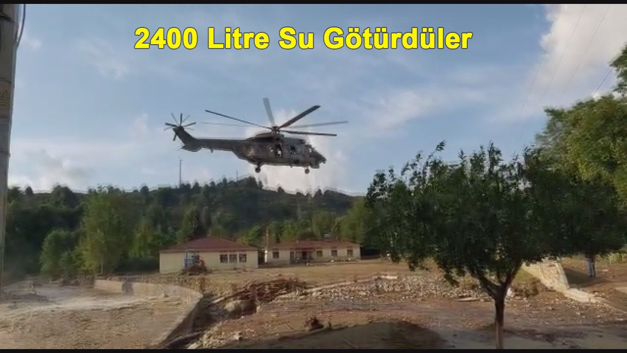 İhtiyaçlar Helikopterle Karşılanmaya Çalışılıyor
