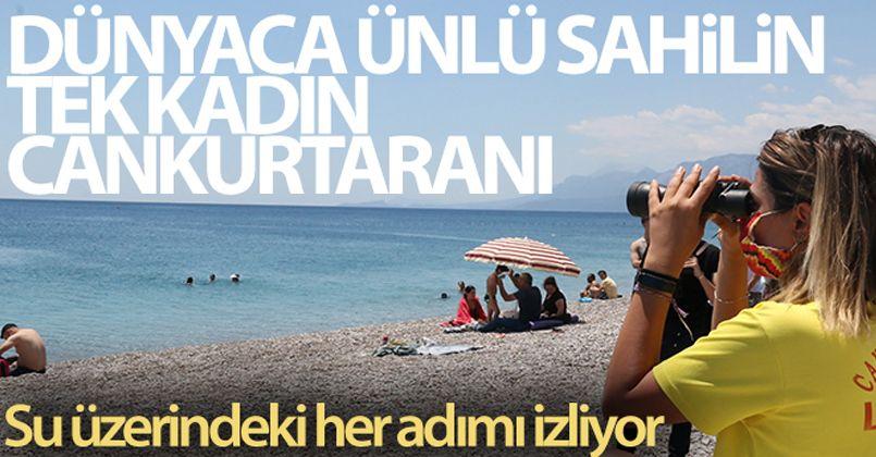 Dünyaca ünlü sahilin tek kadın cankurtaranı