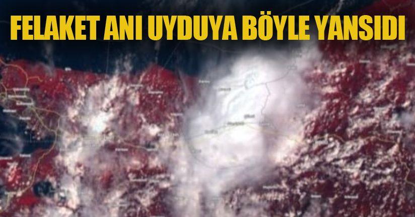 Sel felaketin sabahı uydudan böyle göründü