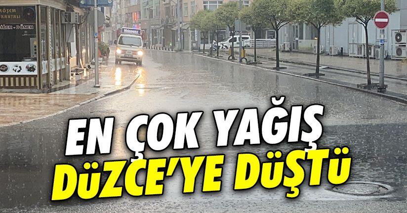 Ülke genelinde en çok yağış Kaynaşlı'ya düştü