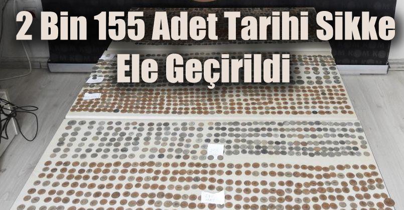 TEM'de durdurulan otomobilde 2 bin 155 adet tarihi sikke ele geçirildi