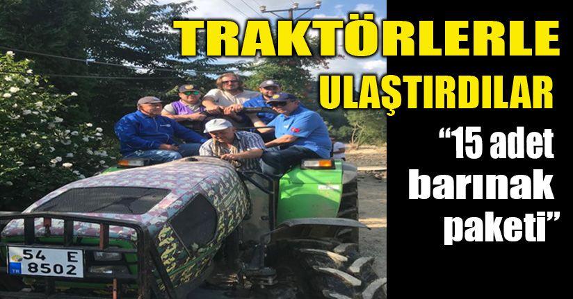 Rotary kulübü; Afet çadırları ve barınma paketleri dağıttı