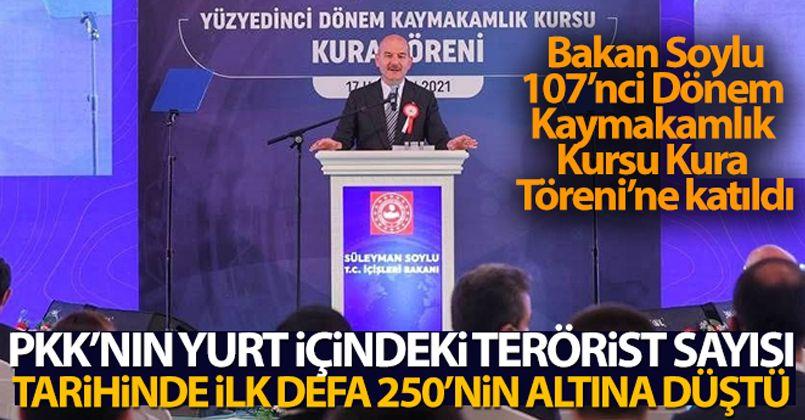 Bakan Soylu: 'Bugün PKK'nın yurt içindeki terörist sayısı, tarihinde ilk defa 250'nin altına düşmüştür'
