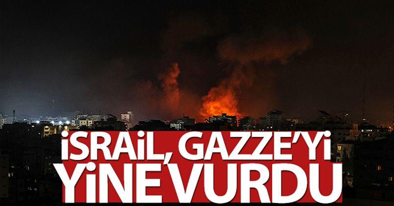 İsrail savaş uçakları yeniden Gazze'yi vurdu