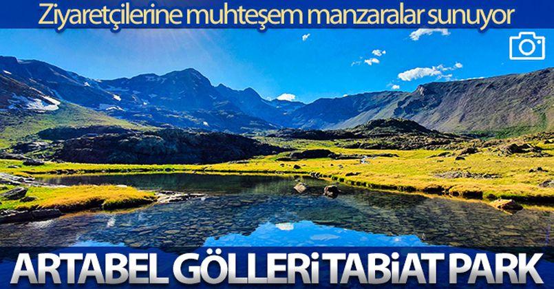 Gümüşhane'deki Artabel Gölleri Tabiat Parkı ziyaretçilerine muhteşem manzaralar sunuyor