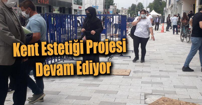 İstanbul Caddesinde Çalışmalar Devam Ediyor