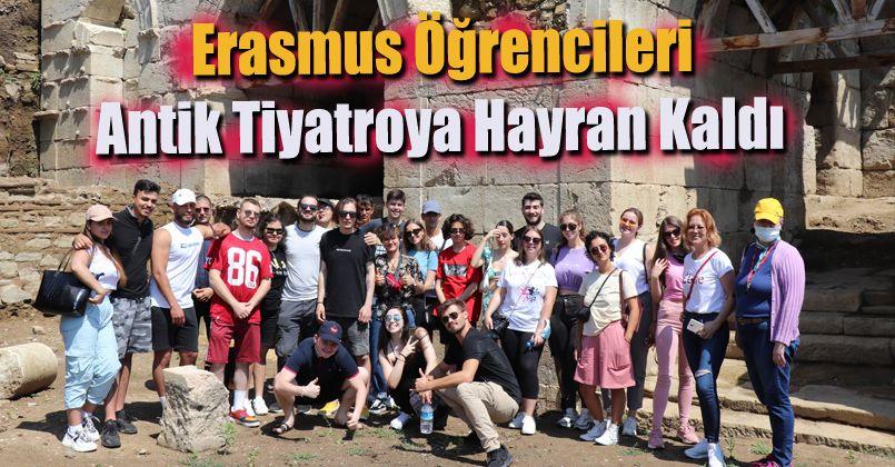 Erasmus Öğrencileri Antik Tiyatroya Hayran Kaldı