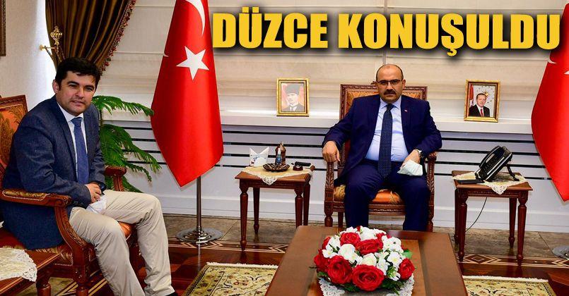 Yunus Özay Er Trabzon Valisi İsmail Ustaoğlu'nu  ziyaret etti