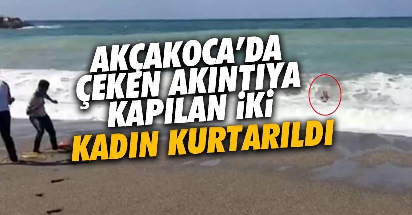 Denizde boğulan iki kadın hastaneye kaldırıldı
