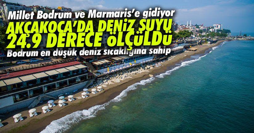 Karadeniz'de deniz sıcaklığı 24.9 derece ölçüldü