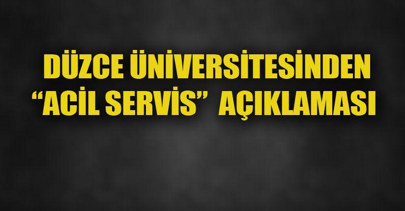 Üniversiteden Açıklama