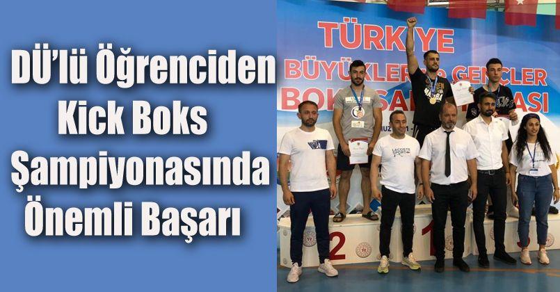 DÜ'lü öğrenciden Kick Boks şampiyonasında önemli başarı