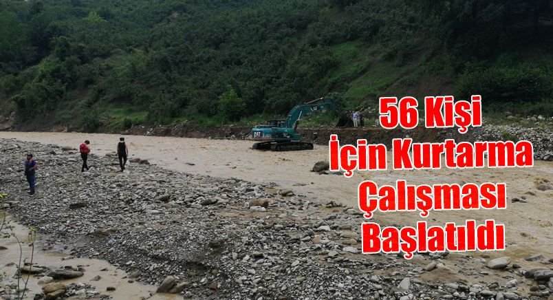 Selin Vurduğu Köyde Mahsur Kalan 56 Kişi İçin Kurtarma Çalışması Başlatıldı