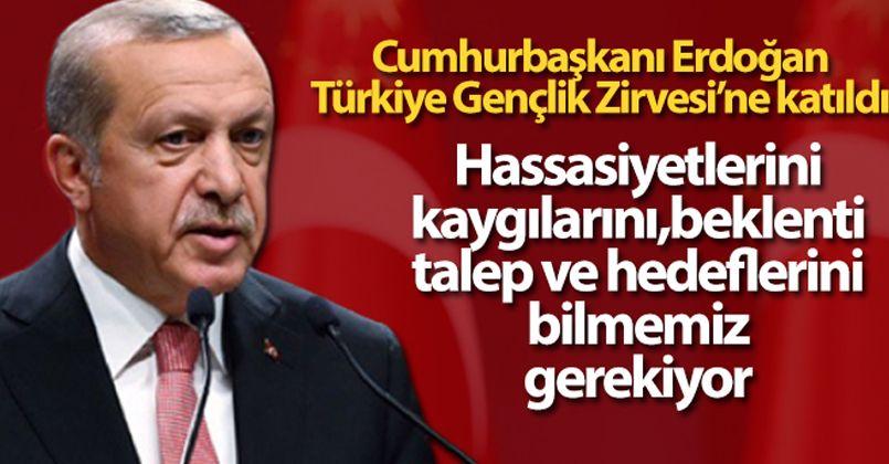 Cumhurbaşkanı Erdoğan, Türkiye Gençlik Zirvesi'ne katıldı