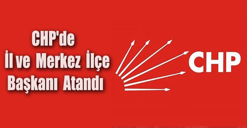 CHP'de İl ve Merkez İlçe Başkanı Atandı