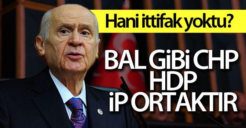 MHP Genel Başkanı Bahçeli: 'Bal gibi buz gibi CHP, HDP, İP ortaktır'
