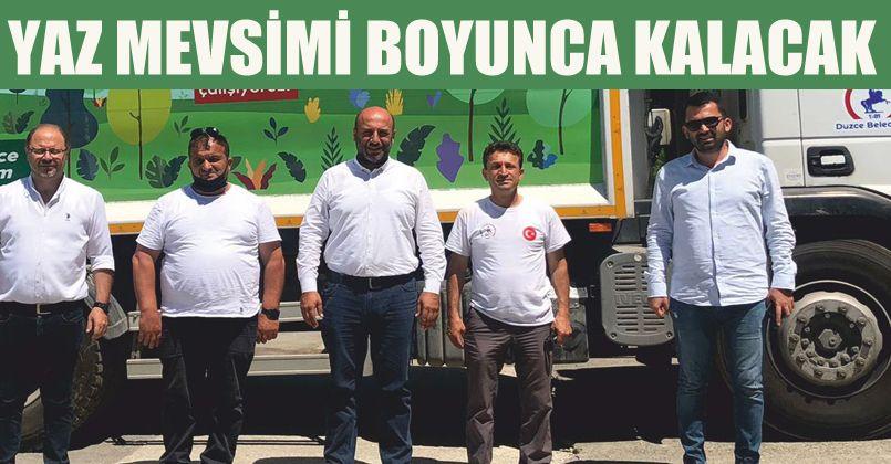 Düzce Belediyesinden Akçakoca'ya Yardım Eli