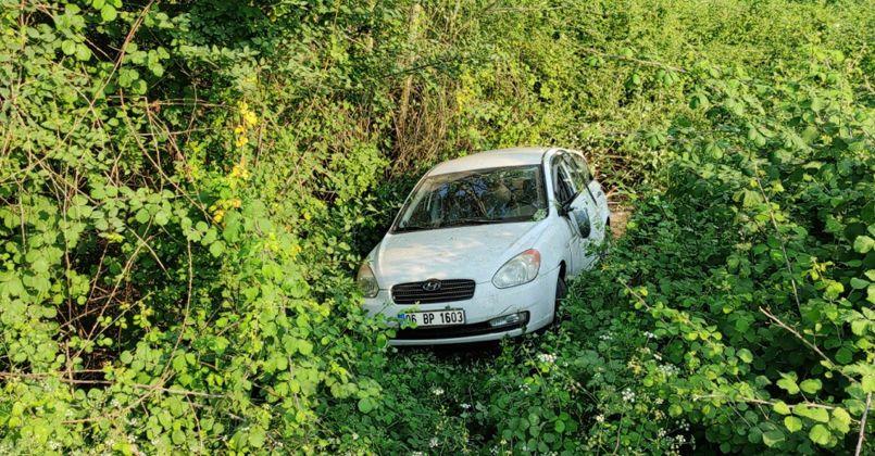TEM'de kontrolden çıkan otomobil ağaçlık alana uçtu: 3 yaralı