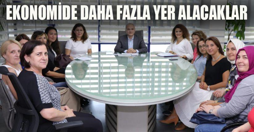 Kadın girişimciler Başkanla bir araya geldi