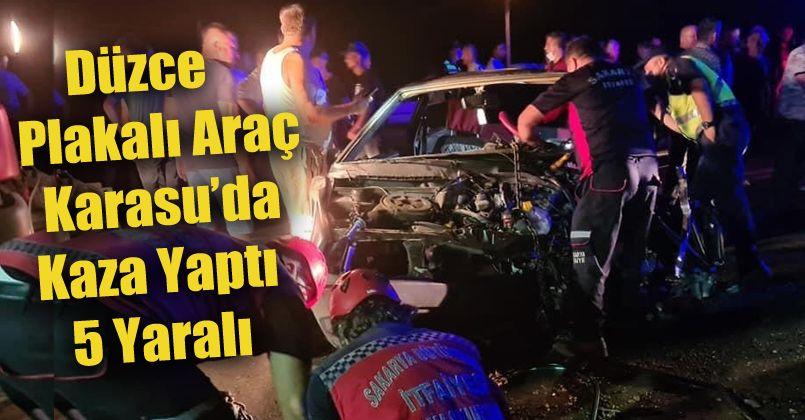 Kontrolden çıkarak karşı şeride geçen araç dehşet saçtı: 1'i çocuk 5 yaralı