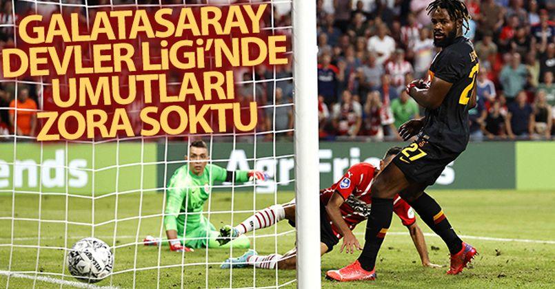 Galatasaray Devler Ligi'de umutları zora soktu