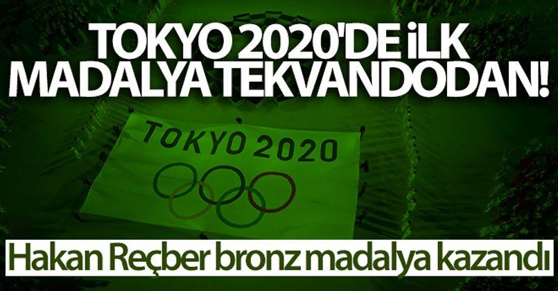 Tokyo 2020'de ilk madalya tekvandodan! Hakan Reçber bronz madalya kazandı