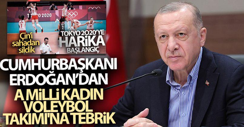 Cumhurbaşkanı Recep Tayyip Erdoğan, A Milli Kadın Voleybol Takımı'nı tebrik etti