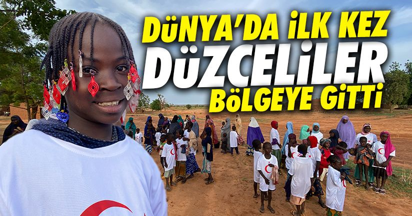 Çölün ortasındaki köye yardım elini Türkiye uzattı