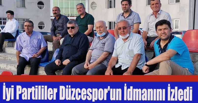 İyi Partililer Düzcespor'un idmanını izledi