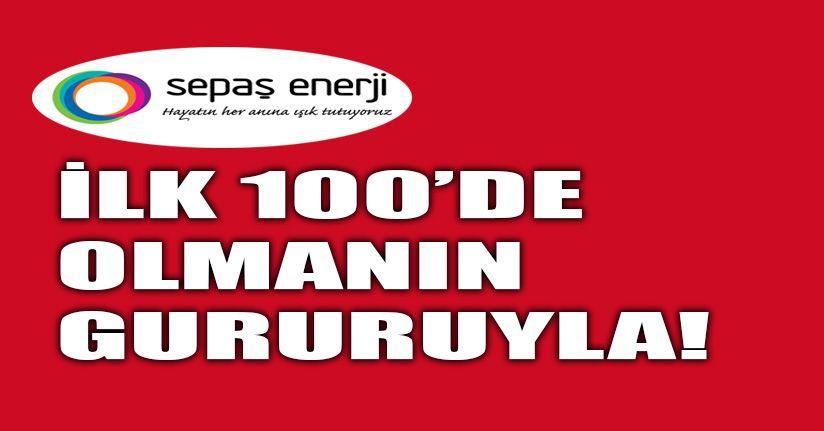Sepaş Enerji Capital 500 arasındam ilk 100'e girdi