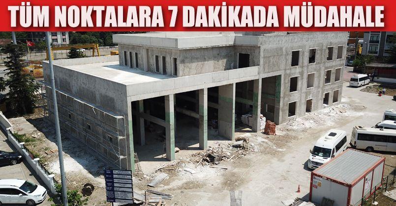 İtfaiye Binasının Kaba İnşaatı Tamamlandı