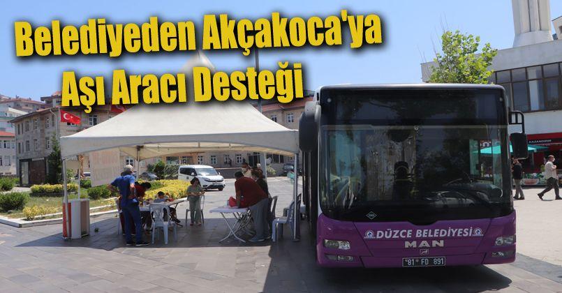 Belediyeden Akçakoca'ya Aşı Aracı Desteği