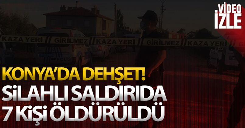 Konya'da dehşet cinayet!