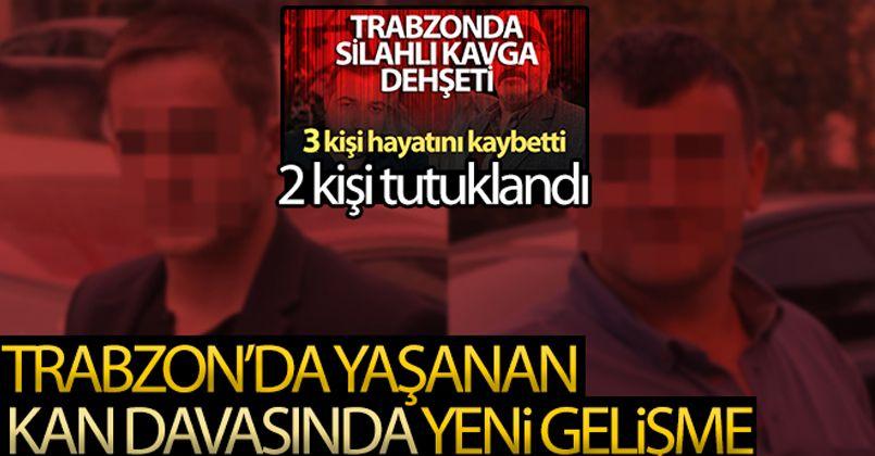 Trabzon'da 3 kişinin öldüğü cinayette mahkemeye sevk edilen 2 kişi tutuklandı