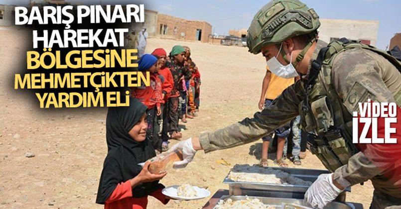 Barış Pınarı Harekat Bölgesine Mehmetçikten yardım eli