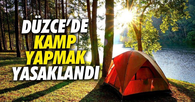 Planlanan kamp etkinlikleri iptal edildi