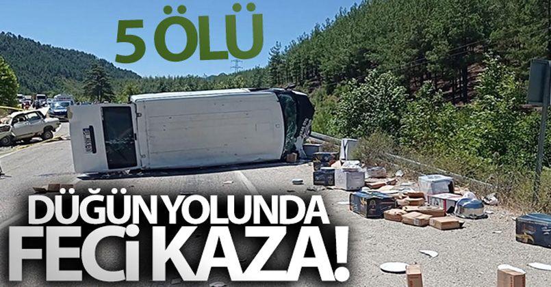 Adana'da düğün yolunda feci kaza: 5 ölü, 1 yaralı