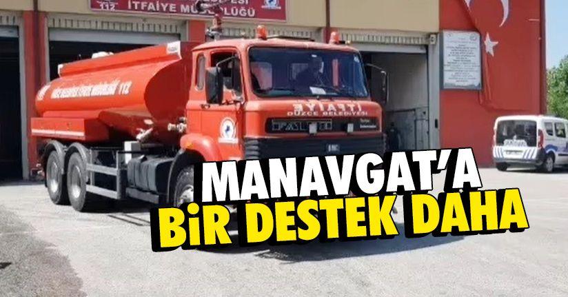 13 tonluk su aracı Manavgat'a yola çıktı