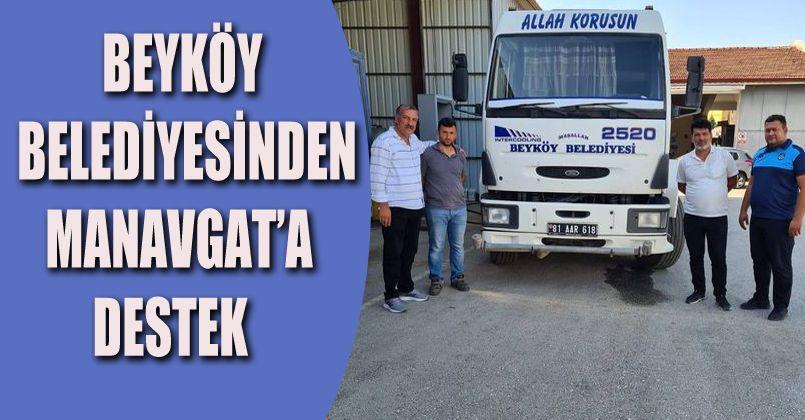 Beyköy Belediyesinden Antalya'ya Destek