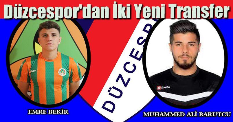 Düzcespor'dan İki Yeni Transfer