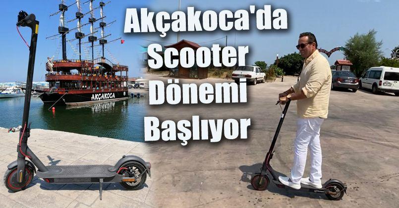 Akçakoca'da Scooter Dönemi Başlıyor