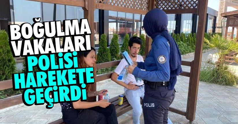 Karadeniz'de yaşanan boğulma vakaları polisi harekete geçirdi